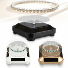 Solar Showcase 360 Turntable Rotating Jewelry Watch Ring Display Stand Holder US