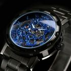 Vintage Mens Automatic Mechanical Waterproof Leather Strap Sports Wrist Watches