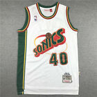 Shawn Kemp Seattle Supersonics Throwback Swingman Jersey White Size S-XXL on eBay