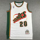 Gary Payton 20 Seattle Supersonics Throwback Swingman Jersey White Size S-XXL on eBay