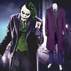 Batman The Dark Knight Rise Joker Cosplay Costume Full set Shirt Vest Halloween