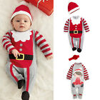 Nweborn Baby Lovely Santa Elf 2Pcs Romper Hat Set Christmas Party Costume Outfit