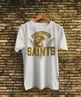 1980s New Orleans Saints NFL Shirt White Vintage T-Shirt S-XXL Made in USA $14.99 USD on eBay