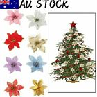 10pcs Christmas Tree Decoration Flower Home Decorations Lovely New Year Decor Au