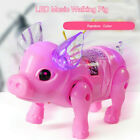 Cute Electric Walking Singing Musical Light Pig Leash Kids Toy Christmas Gifts