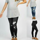 Pregnant Jeans Maternity Pants Solid Fashion Denim Trousers Prop Belly Leggings