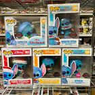 Funko Pop Lilo & Stitch : Aloha, SuperHero, Santa, Baker, The Red One, Scrump 1x