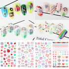 3D Nagel Sticker Mix Patterns Blume Nail Art Transfer Decals Dekorationen Tipps günstig