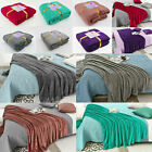 Soft and Warm Teddy Bear Throw Over Bed Luxury Sofa Blanket In 6 Cool Colors