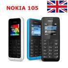 Brand New NOKIA 105 Sim Free Unlocked Cheap Basic Mobile Phone BLACK BLUE UK