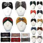 New Ladies Jewel Decoration Knot Knitted Winter Head Warmer Headband