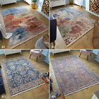 MED & LARGE SOFT ABSTRACT VINTAGE FADED DISTRESSED PAVILLION SEALIFE RUGS