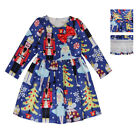 Girls Christmas Dress Gift Ballet Swing Holiday Bow princess Nutcracker Costume