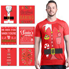ALL Christmas Men`s T-Shirt Holiday Santa Elf Costume Xmas Funny Ugly Red Tees image