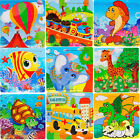 16 PCS Wooden Jigsaw Puzzles Toys with Animals For Kids Education And Learning E