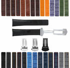 19-20-21-22MM LEATHER WATCH BAND STRAP FOR TAG HEUER CARRERA DEPLOYMENT CLASP
