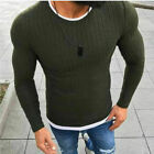 Men Slim Fit T-shirt Long Sleeve Tops Pullover Crew Neck Blouse Casual Fashion