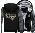 2019 Los Angeles Rams Football Hoodie Zip Jacket Fleece Coat Winter Sweatshirts $41.79 USD on eBay