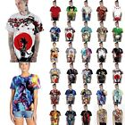 Men Women Anime GoKu/One Piece 3D Graphic Print Short Sleeve T-Shirt Blouse Tops image