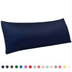 """Ultra Soft Silky Satin Body Pillow Cover Long Pillow Cases Covers Size 20"""" x 54 image"""