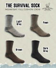 Alpaca Survival (Crew) Socks Made in USA -  Sizes M, L, XL - Unisex