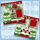 HOME FOR THE HOLIDAYS Printed Premade Scrapbook Pages