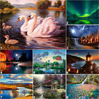 Wonders Lake Full Drill DIY 5D Diamond Painting Cross Stitch Kits Decor Mosaic $10.9 USD on eBay