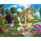 Drill Diamond Painting Kit Like Cross Stitch Mandarin Ducks in the Pool ZY258B $31.36 USD on eBay