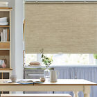 Cordless Natural Shade Bamboo Color FREE STOP Roller Window Blind