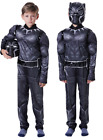 Black Panther Kid Boy Black Panther Costume Superhero Cosplay Party Outfit