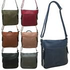 New Zip Around Synthetic Leather Laser Cut Design Crossbody Bag