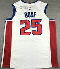 New Men's Detroit Pistons 25# Derrick Rose basketball jersey shirts white on eBay