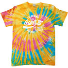 Coca Cola Original And Best White Text Women's Tie Dye T-Shirt $26.05  on eBay