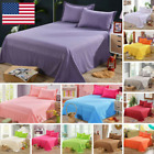 Bedding Sheet Comfortable Bed Flat Sheets Solid Color Bed Coverlet Pillowcase image