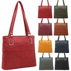 New Panel Design Synthetic Leather Simple Shoulder Shopper Tote Bag
