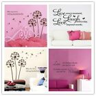 Wall Stickers Removable Art Vinyl Quote Decal Bedroom Mural Home DIY Decor LE