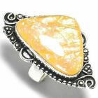 "Austrelian Opal Gemstone Handmade Handicraft Antique Style Jewelry Ring ""9"""