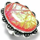 "Austrelian Opal Gemstone Handmade Handicraft Antique Style Jewelry Ring ""8"""