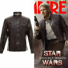 Star Wars the Force Awakens Han Solo leather Jacket Halloween Cosplay Costume
