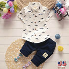 Toddler Kids Baby Sets Boys Bear T Shirt Tops+Pants Outfits Toddler Clothes Sets