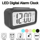 Digital Snooze LED Alarm Clock Backlight Smart Light Nature Sound Temperature US