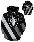 Oakland Raiders Hoodie Lightweight Small-XXXL 2XL Unisex Men Women Football $26.99 USD on eBay