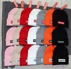Supreme Beanie Box Logo FW17 Winter Hat Black Gray White Red Knit Warm Cap NWTAG