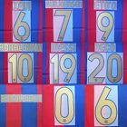 2006-07 Barcelona Player Issue Name Set Sipesa for Shirt Jersey
