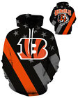 Cincinnati Bengals Hoodie Lightweight Small-XXXL 2XL Unisex Men Women Football $26.99 USD on eBay