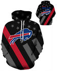 Buffalo Bills Hoodie Lightweight Small-XXXL 2XL Unisex Men Women Football $26.99 USD on eBay