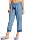 Tommy Bahama Embroidered Cropped Cover-Up Pants Chambray NWT $118