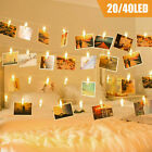 20/40 LED Photo Clip Fairy String Light Christmas Garland Wedding Party Decor