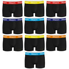 KAPPA PACK 10 black boxer briefs with color waist