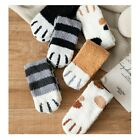 Women Fluffy Cozy Sleeping Socks Winter Warm Cat Claws Soft Slipper Holiday Gift